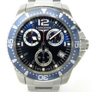 【中古】ロンジン ハイドロコンクエスト クロノグラフ メンズ腕時計 クオーツ 文字盤ネイビー ステンレス L3.643.4 LONGINES【メンズ】【watch】|junglejungle