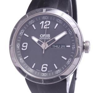 【中古】オリス TT1 デイデイト メンズ腕時計 自動巻き SS ラバーベルト グレー文字盤 735.7651.4163R|junglejungle