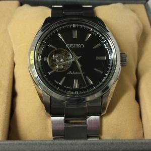 【中古】セイコー プレサージュ メンズ腕時計 自動巻き オートマ 4R38-00S0[jggW]|junglejungle