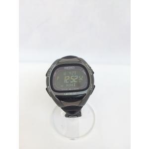 【中古】SEIKO セイコー メンズ腕時計 クオーツ SS ラバー ブラック S680-00A0[hs][jggW]|junglejungle