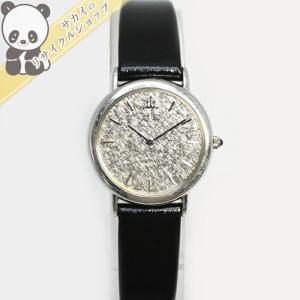 【中古】セイコー クレドール レディース腕時計 クオーツ 2F70-0331 Pt900/レザー シルバー文字盤 総重量18gSeiko【Ladies】【Watch】|junglejungle