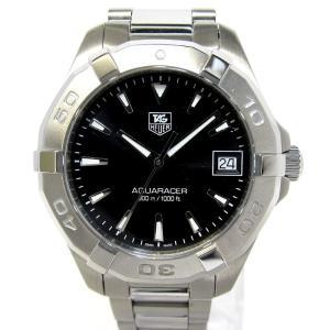 【中古】TAG Heuer アクアレーサー レディース腕時計 クオーツ 文字盤ブラック SS WAY1310 【美品】タグホイヤー 【レディース】【watch】|junglejungle