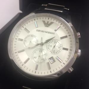 【中古】エンポリオアルマーニ メンズ腕時計 SS クオーツ クロノグラフ AR2458[jggW]|junglejungle