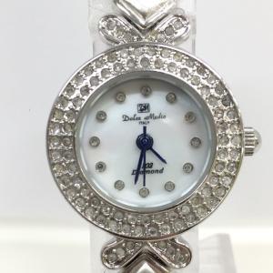【中古】ドルチェメディオ レディース腕時計 DM-8520 クオーツ ライトストーン SS ホワイトシェル文字盤[jggW]|junglejungle