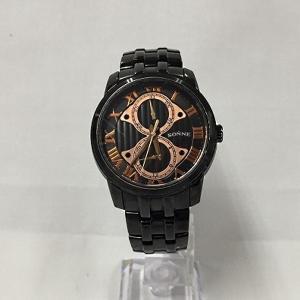 【中古】ゾンネ メンズ腕時計 クオーツ メタル ブラック文字盤[jggW]|junglejungle