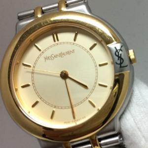 【中古】イブサンローラン レディース 腕時計 SS/GP クオーツ ホワイト ゴールド GN-7-S[jggW]|junglejungle|03