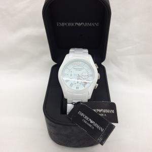 【中古】エンポリオアルマーニ メンズ 腕時計 クオーツ ホワイト AR1403[jggw]|junglejungle