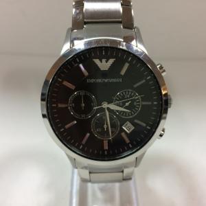 【中古】エンポリオアルマーニ メンズ腕時計 クロノグラフ シルバー クォーツ AR-2434[jggW]|junglejungle
