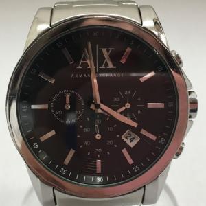 【中古】アルマーニ エクスチェンジ メンズ腕時計 クロノグラフ SS クオーツ ブラック/シルバー AX2084[jggW]|junglejungle
