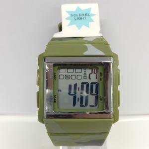 【中古】ビレット メンズ腕時計 デジタル クオーツ BL0003 カモフラ/グリーン SS/ラバー[jggW]|junglejungle