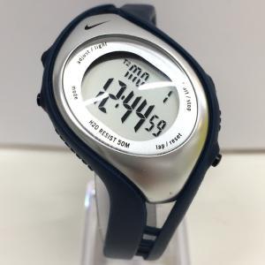 【中古】ナイキ メンズ腕時計 WK0006 2タイムゾーン デジタル クオーツ ネイビー SS/ラバー[jggW]|junglejungle