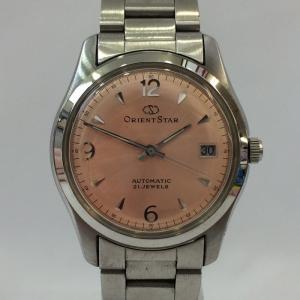 【中古】オリエントスター レディース腕時計 自動巻き シースルーバック 597302-70 SS ピンク文字盤[jggW]|junglejungle