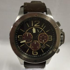 【中古】アルマーニエクスチェンジ 腕時計 メンズ クオーツ SS/レザー AX1518[jggW]|junglejungle