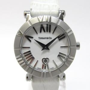 【中古】Tiffany&Co. アトラス レディース腕時計 デイト SS クォーツ 文字盤ホワイト Z1300.11.11A20A7 【レディース】【watch】|junglejungle