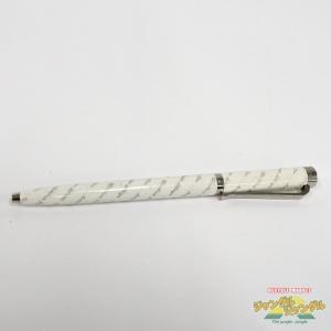 【中古】Christian Dior ボールペン 真鍮 ホワイト×シルバー  クリスチャンディオール|junglejungle
