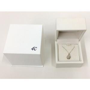 【中古】ヨンドシー エターナルシルバー ネックレス しずく型モチーフ ダイヤモンド アクアマリン[jggZ] junglejungle