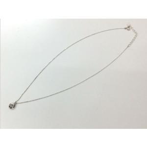 【中古】ヨンドシー エターナルシルバー ネックレス しずく型モチーフ ダイヤモンド アクアマリン[jggZ] junglejungle 02
