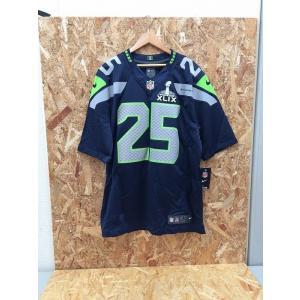 【中古】ナイキ メンズ フットボールゲームシャツ NFL シアトルシーホークス リチャードシャーマン ネイビー系 表記サイズ:1[jggI]|junglejungle