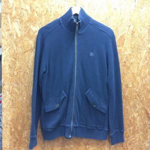 【中古】バーバリー ブラックレーベル メンズジャケット フロントジップ ブルー系 [jggI]