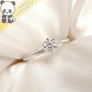 【中古】Tiffany&Co. ソリティア 1P ダイヤモンド リング 0.28ct プラチナ Pt950 3.4g 約7.5号ティファニー 指輪【新品仕上げ済み】【Jewelry】|junglejungle