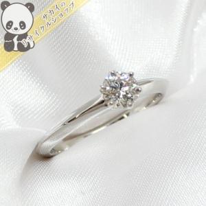 【中古】ティファニー リング ソリティア 1Pダイヤモンド PT950 プラチナ 3.4g 表記:9|junglejungle