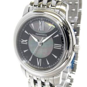 【中古】Tiffany&Co. マーク メンズ腕時計 クオーツ SS 文字盤ブラックシェル Z0046.17.10 【新品同様】ティファニー 【メンズ】【watch】|junglejungle