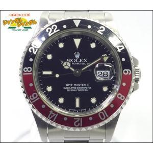 ロレックス GMTマスター2 Ref 16710 T番 赤黒ベゼル ブラック文字盤 メンズ腕時計|junglejungle