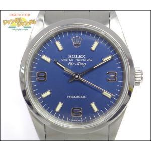 ロレックス エアキング メンズ腕時計 SS 青369文字盤 S番 14000|junglejungle
