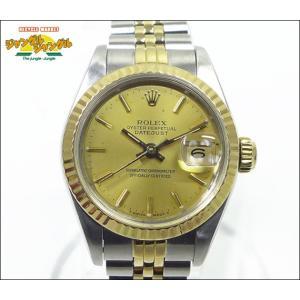 ロレックス デイトジャスト Ref.69173 9番 K18YG/SS コンビ レディース腕時計 シャンパンゴールド文字盤中古|junglejungle