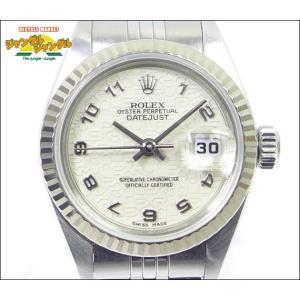 ロレックス デイトジャスト Ref79174 A番 SS/K18G 自動巻き コンピューターアラビア文字盤 レディース腕時計|junglejungle