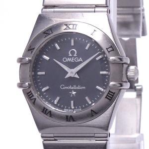 【中古】オメガ コンステレーション レディース腕時計 クォーツ SS グレー文字盤 1512.40|junglejungle