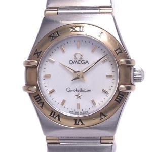 【中古】オメガ コンステレーションミニ レディース腕時計 クォーツ SS/K18YG ホワイトシェル文字盤 1362 70|junglejungle