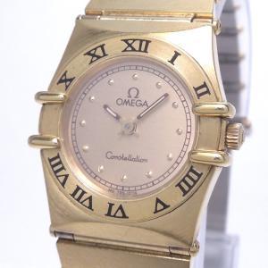 【中古】オメガ コンステレーション レディース腕時計 クォーツ SS ゴールド文字盤 795.1076|junglejungle