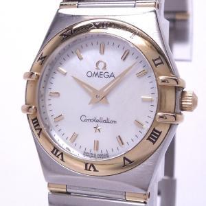 【中古】オメガ コンステレーション ミニ レディース腕時計 クォーツ SS/K18YG シェル文字盤 1362.70|junglejungle