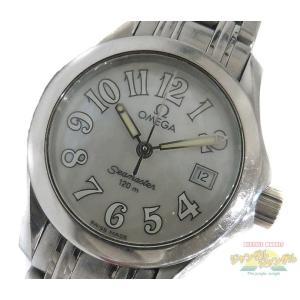 【中古】OMEGA シーマスター レディース腕時計 ステンレス クオーツ シェル文字盤 2581.70 オメガ|junglejungle
