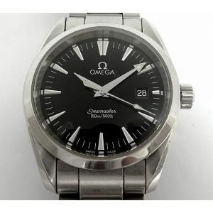 【中古】オメガ メンズ腕時計 シーマスター アクアテラ クオーツ ブラック文字盤 SS シルバー 2518.50|junglejungle