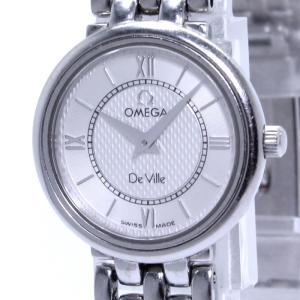 【中古】オメガ レディース腕時計 デビル プレステージ SS クオーツ ホワイト文字盤|junglejungle