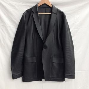 【中古】カルバンクライン メンズ テーラードジャケット 羊革/レザー ブラック 表記サイズ:34[jggI]|junglejungle
