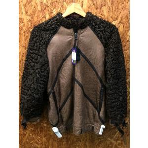 【中古】Christian Dior Boutique クリスチャンディオールブティック メンズ ジャケット レザー×ウール ブラウン系[wa][jggI]|junglejungle