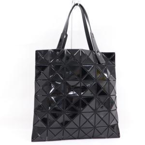【中古】 イッセイミヤケ バオバオ トートバッグ ブラック 幾何学柄 ポリウレタン/ポリエステル BB71 junglejungle