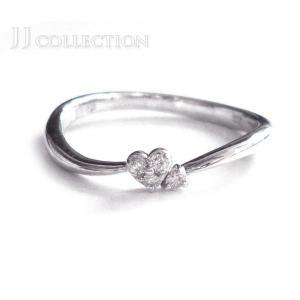 【中古】サマンサティアラ ハート リング K18WG/750 ダイヤモンド0.03ct 約7号 ホワイトゴールド 指輪 [iw]|junglejungle