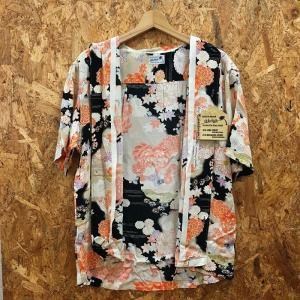 【中古】サンサーフ メンズ アロハシャツ 菊 着物デザインスペシャル ブラック系 表記サイズ:M[jggI]|junglejungle|06