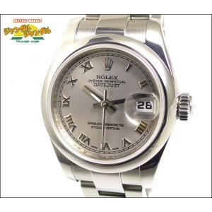 ロレックス デイトジャスト Ref 179160 Z番自動巻き グレー文字盤ルーレット刻印腕時計|junglejungle