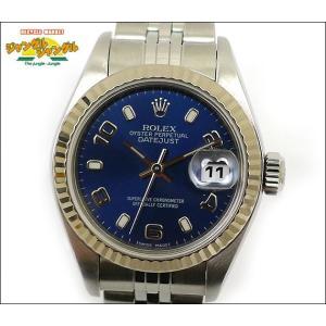 ロレックス デイトジャスト Ref 79174 K番 SS 自動巻き ブルー文字盤 レディース腕時計|junglejungle