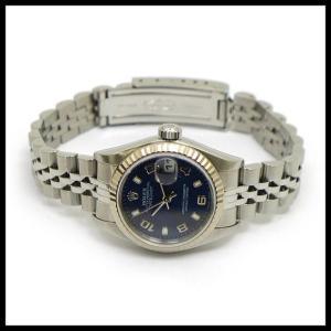 ロレックス デイトジャスト Ref 79174 K番 SS 自動巻き ブルー文字盤 レディース腕時計|junglejungle|02