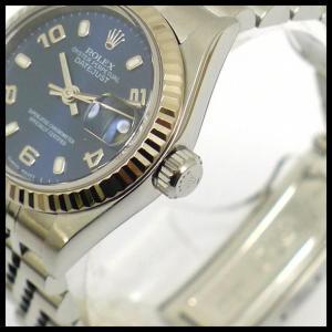ロレックス デイトジャスト Ref 79174 K番 SS 自動巻き ブルー文字盤 レディース腕時計|junglejungle|03