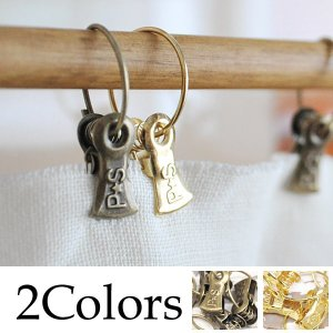 リングを棒やポールなどに通して お好きなカーテンを吊るす事が出来る リングクリップ12個セット。  ...