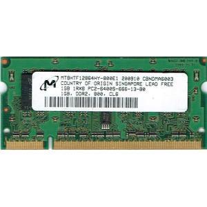 【未確認品】MICRON製 S.O.DIMM 1RX8 PC2-6400S 1GB (ノート用) junkpcnet