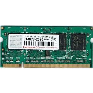 【未確認品】Transcend製 S.O.DIMM   PC2-5300 1GB (ノート用) junkpcnet