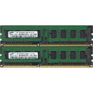 【未確認品】SAMSUNG製 1GB 1Rx8 PC3-8500U 1GBx2枚セット(2G・片面実装)